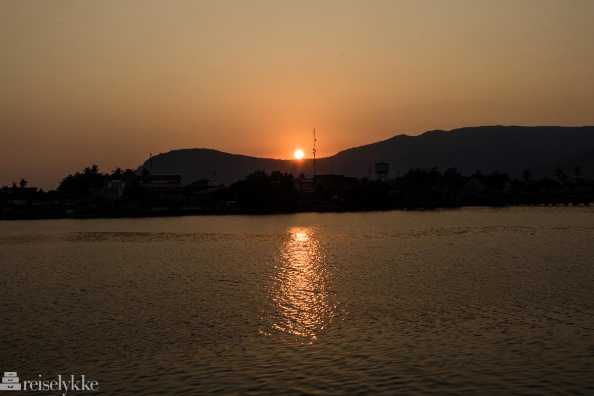 Solnedgang i Kampot
