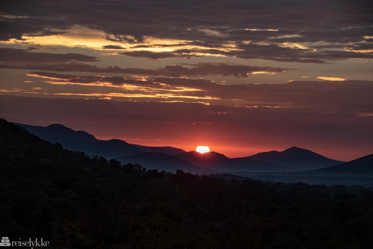 Solnedgang i Pilanesberg