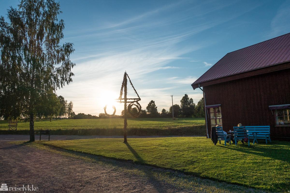 Solnedgang ved Sahlströmsgården
