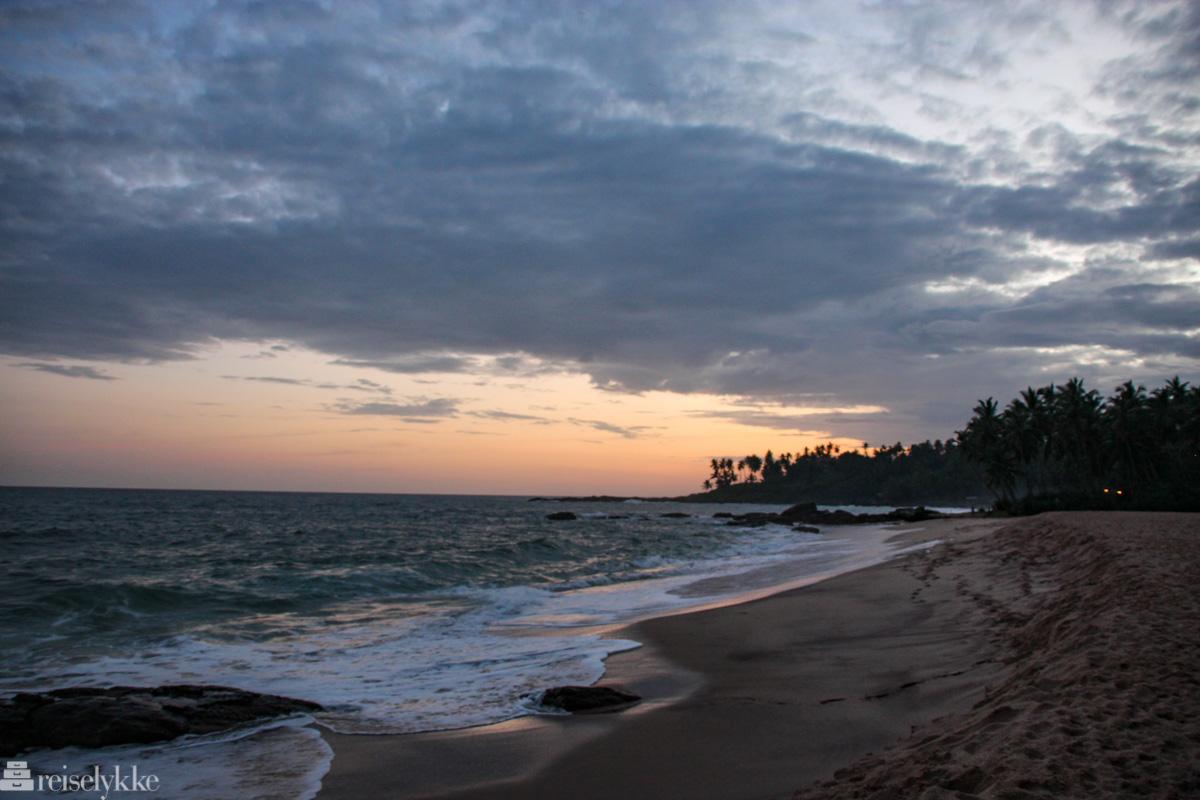 Solnedgang ved Tangalle, Sri Lanka