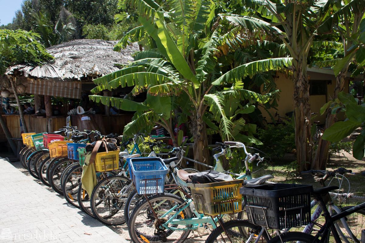 Sykler på La Digue, Seychellene