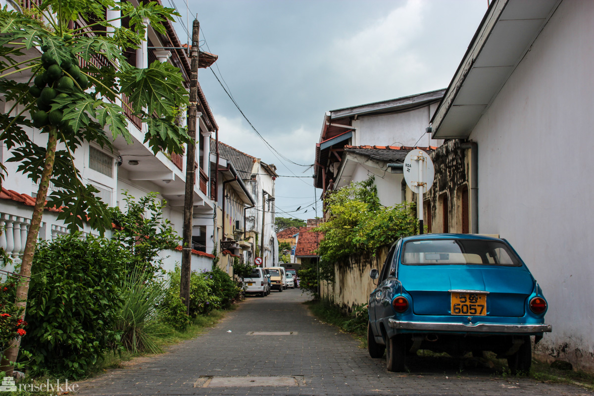 The streets of Galle, Sri Lanka