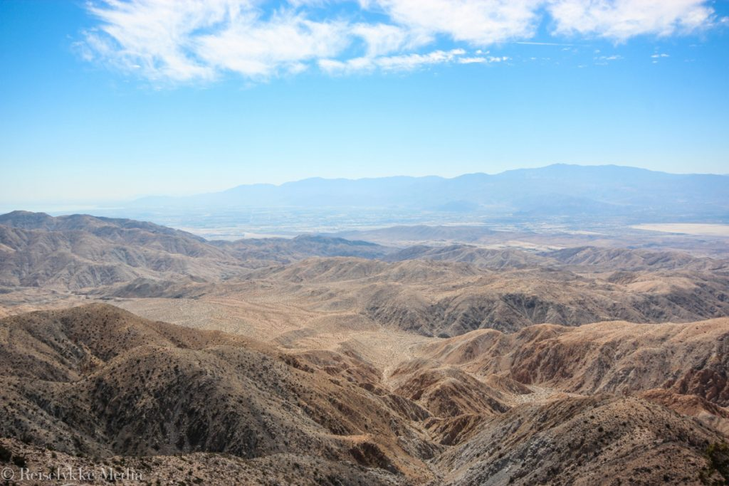Utsikt fra Keys View i Joshua Tree National Park