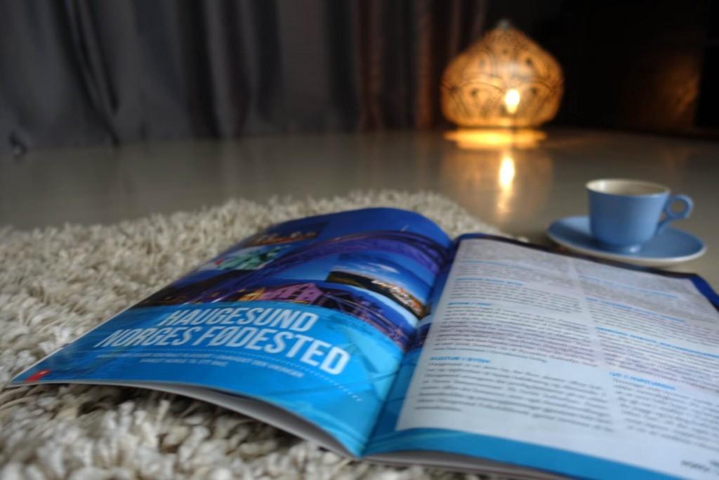 Artikkel om Haugesund, på trykk, Reiselykke, reiseartikkel